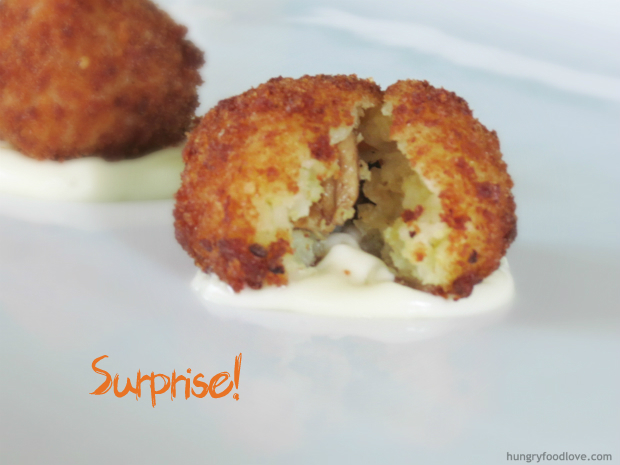 Stuffed Rice Balls Recipe — Dishmaps