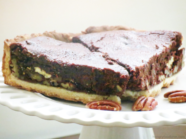 sweet treat for Cinco de Mayo: Mexican Chocolate Pecan Pie