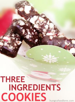 dark chocolate peppermint cookies three ingredient cookies