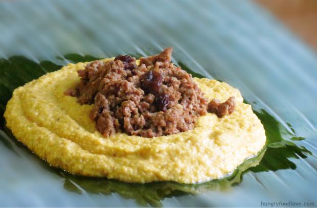 Pastel en Hoja - Dominican Tamales by hungryfoodlove.com