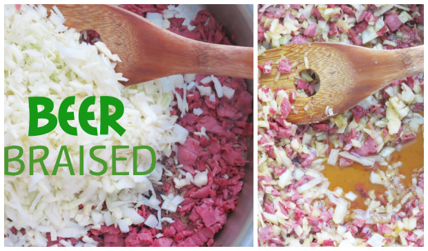 Beer Braised Corned Beef and Cabbage Baked Potato - Perfect for Saint Patrick's