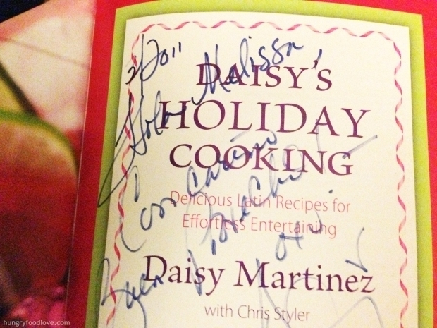 Daisy's Holiday Cooking Book Chef Daisy Martinez Autograph